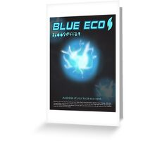 Blue Eco Greeting Card
