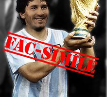 Maradona fac-simile by sick-boy