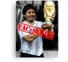 Maradona fac-simile Canvas Print