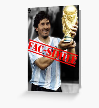 Maradona fac-simile Greeting Card