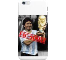 Maradona fac-simile iPhone Case/Skin