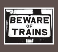 Beware of Trains Baby Tee