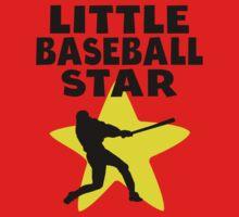 Little Baseball Star Kids Tee