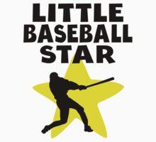 Little Baseball Star Baby Tee