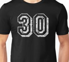 Jersey-Styled 30th Birthday T-Shirt Unisex T-Shirt