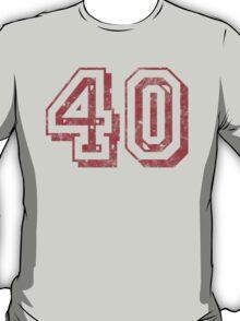 Jersey-Styled 40th Birthday T-Shirt T-Shirt