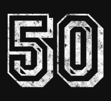 Jersey-Styled 50th Birthday T-Shirt by thepixelgarden