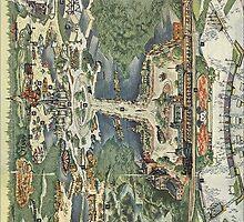 Disneyland Vintage Map Ticket by kabeljack