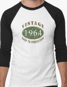 Vintage 1964, 50th Birthday T-Shirt Men's Baseball ¾ T-Shirt