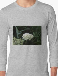 Natural Abstract White Long Sleeve T-Shirt