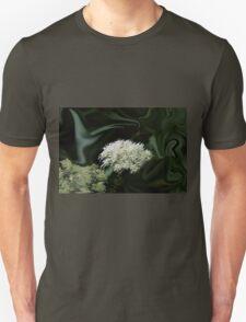 Natural Abstract White T-Shirt
