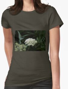 Natural Abstract White Womens Fitted T-Shirt