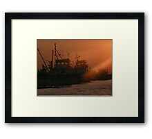Boats In Turkey Framed Print