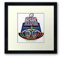 SUPER BOWL 2014 Framed Print