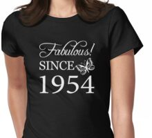 Fabulous Since 1954 Birthday T-Shirt Womens Fitted T-Shirt