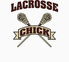 Lacrosse Chick Womens Fitted T-Shirt