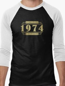 1974 Limited Edition T-Shirt Men's Baseball ¾ T-Shirt