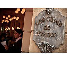 Bonjour... Welcome to Les Chefs de France Photographic Print