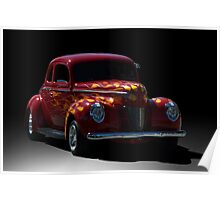 1940 Ford Coupe Street Rod Poster
