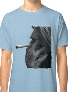 blond girl smoking weed Classic T-Shirt