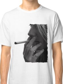 blond girl smoking weed Classic T-Shirt