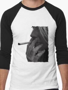 blond girl smoking weed Men's Baseball ¾ T-Shirt