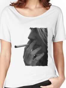 blond girl smoking weed Women's Relaxed Fit T-Shirt