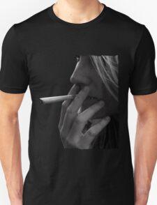 blond girl smoking weed T-Shirt