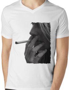 blond girl smoking weed Mens V-Neck T-Shirt