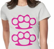 Two Pink Knuckles Womens Fitted T-Shirt