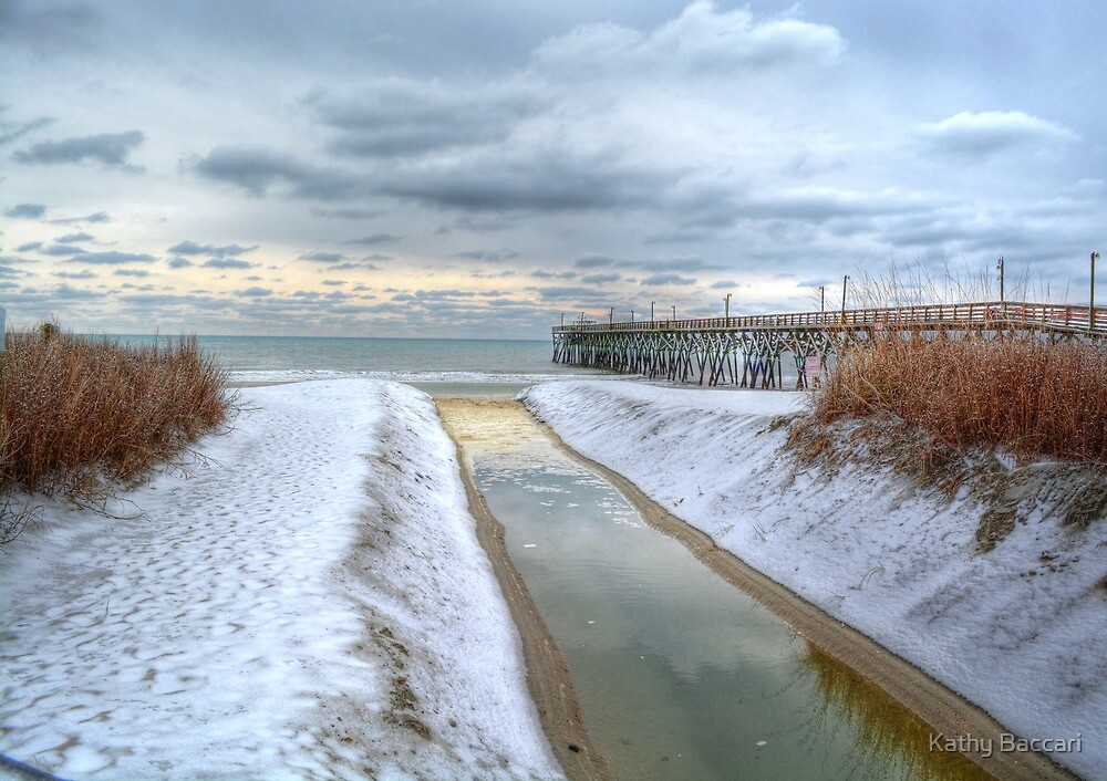 Surfside Pier Ice Storm by Kathy Baccari