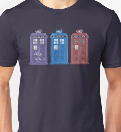 The Doctors' TARDISes Unisex T-Shirt