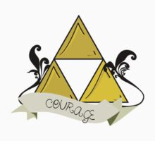 Triforce of Courage Tattoo by geekphoria