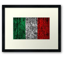distressed italian flag Framed Print