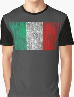 distressed italian flag Graphic T-Shirt