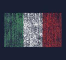 distressed italian flag Kids Tee
