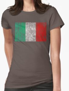 distressed italian flag Womens Fitted T-Shirt
