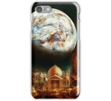 A City in Space, on a Moon the mass of Genemede... iPhone Case/Skin