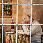 Senior Male Praying by Trudy Wilkerson