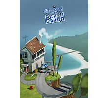 Slice of Bread goes to the Beach House poster Photographic Print