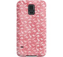 White kangaroos on red background Samsung Galaxy Case/Skin