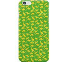 Australian colours Kangaroos - gold and green iPhone Case/Skin