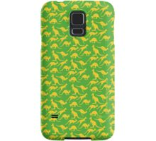 Australian colours Kangaroos - gold and green Samsung Galaxy Case/Skin