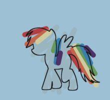 Rainbow Dash Scribble Kids Clothes