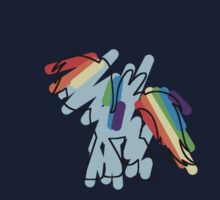 Rainbow Dash Scribble Kids Tee