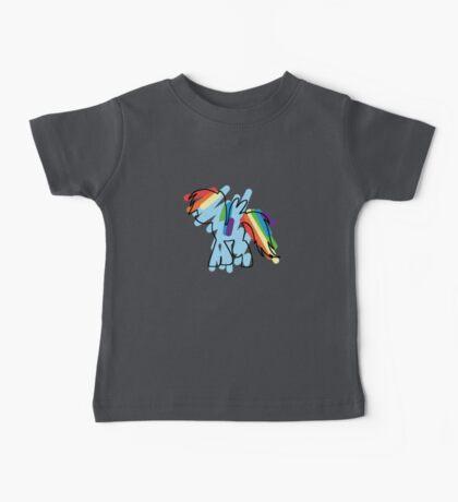 Rainbow Dash Scribble Baby Tee