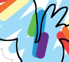 Rainbow Dash Scribble Sticker