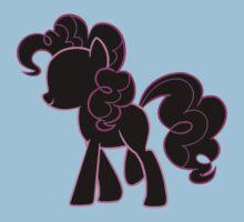 Pinkie Pie lines on black Kids Clothes