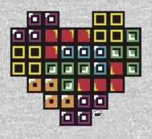 Tetris-Heart Kids Clothes