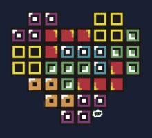 Tetris-Heart One Piece - Short Sleeve